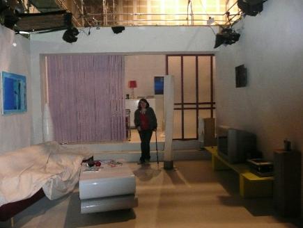 Noémie visite les studios de Plus Belle La Vie