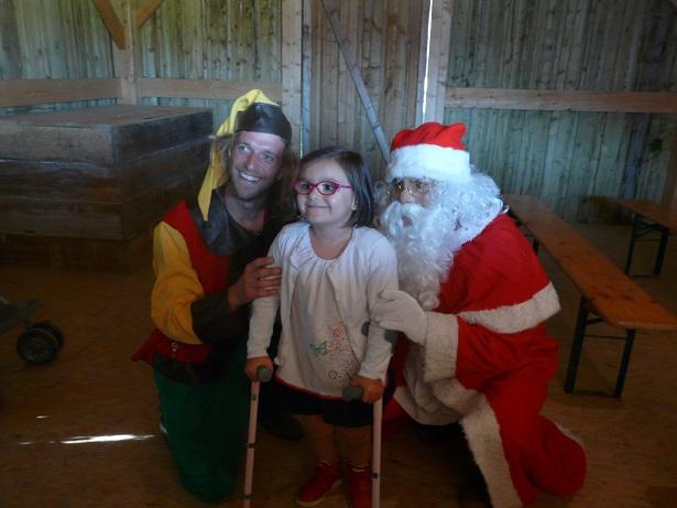Margot, le Père Noël et son lutin