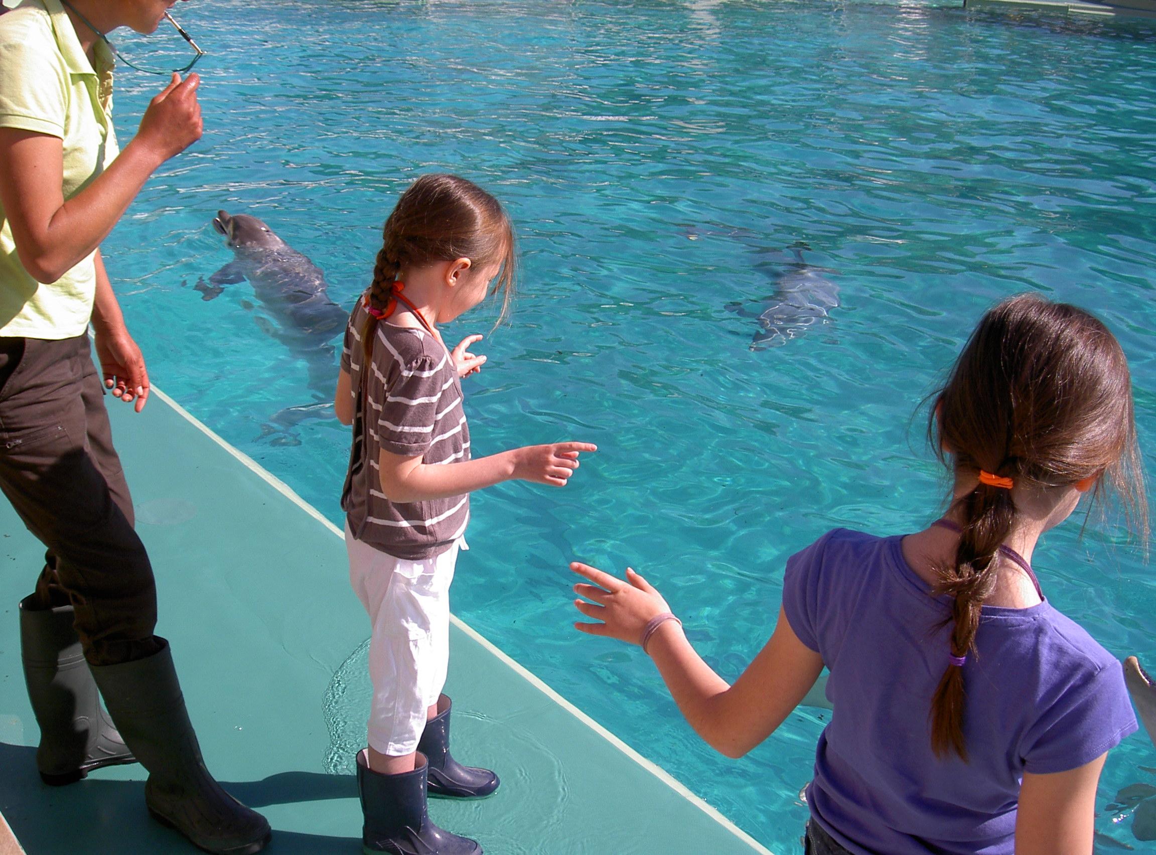 Margaux prêt du bassin aux dauphins
