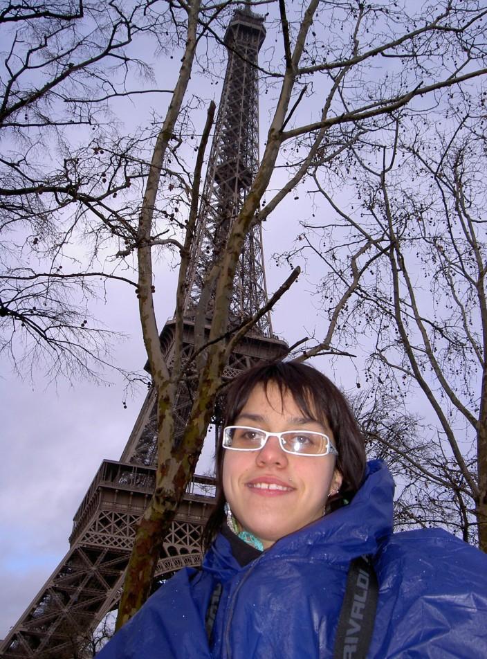 Ophélie à la Tour Eiffel