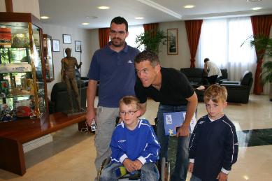 Léo et l'équipe de France de foot