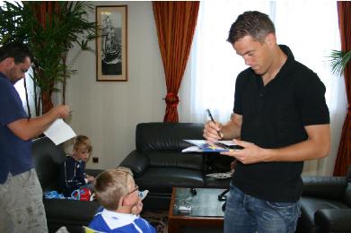 Léo réalise son rêve rencontre l'équipe de France de foot